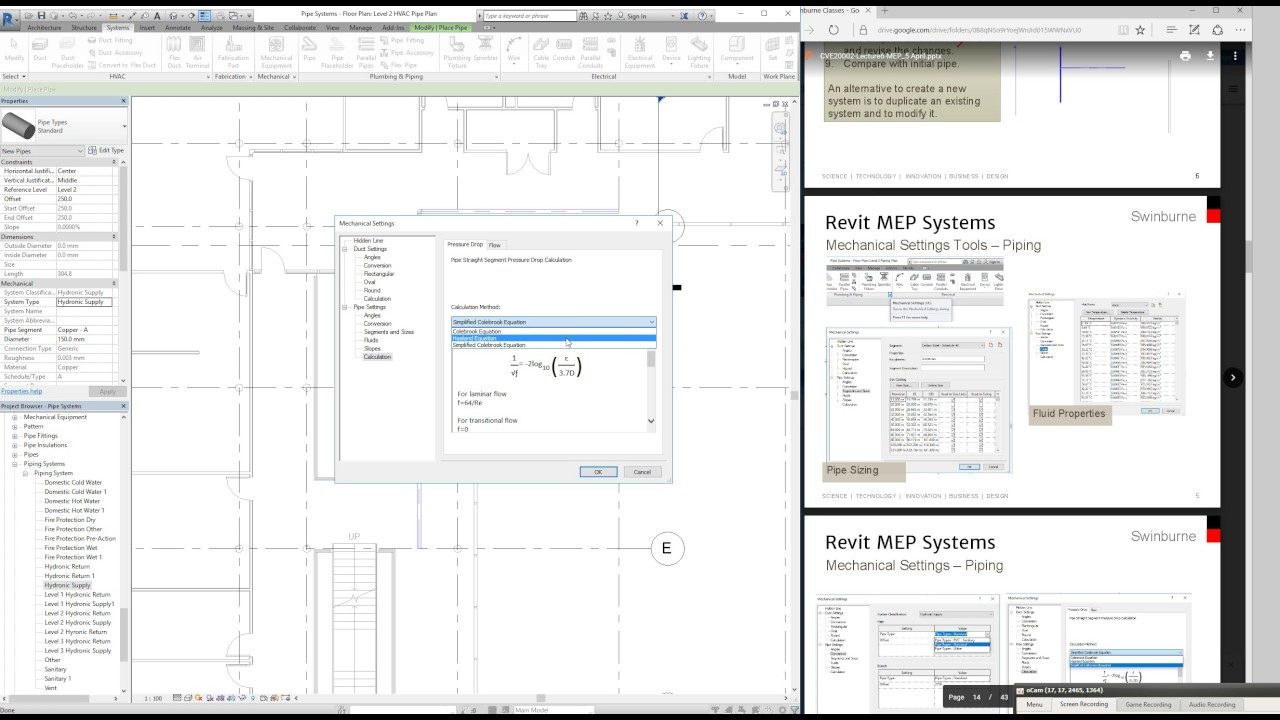 Revit MEP Pipe Systems