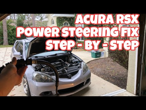 Acura RSX Power Steering Line Replacement HOW TO VIDEO