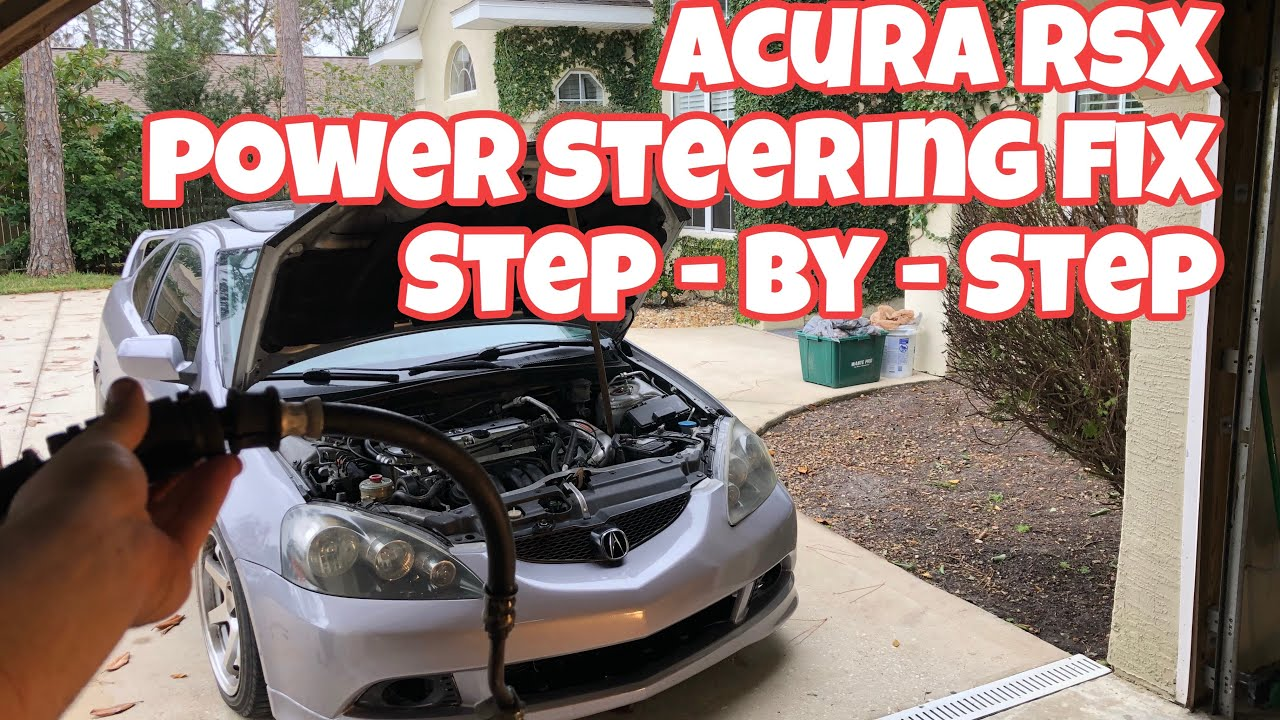 small resolution of acura rsx power steering line replacement how to video
