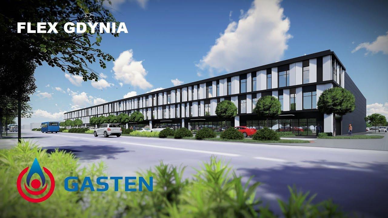 GASTEN S.A.   FLEX GDYNIA   Budynki magazynowo-biurowe   BA ARCHITEKTURA   animacja architektoniczna