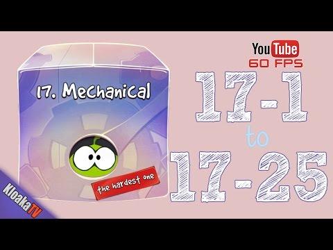 Cut The Rope - Mechanical Box - Level 17-1 to 17-25 Walkthrough (3 Stars)