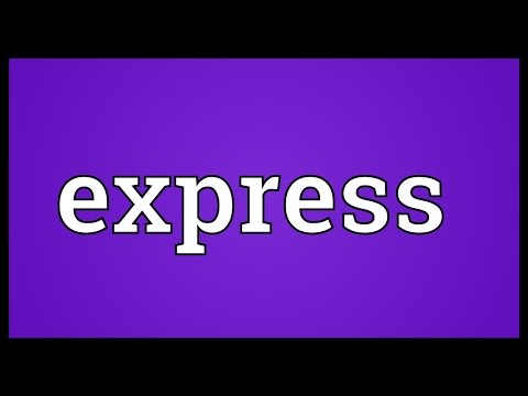 Express Meaning