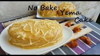No Bake Yema Cake | How to make Yema Cake | Eggless cake base | Simple Cake| Easy cake recipe