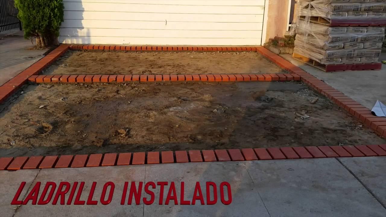 Concreto dise o ladrillo pavimento rodriguez youtube Construir una pileta de ladrillos