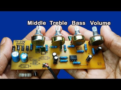 How to make Bass Treble Middle Volume controller circuit​​ IC 4558D at home