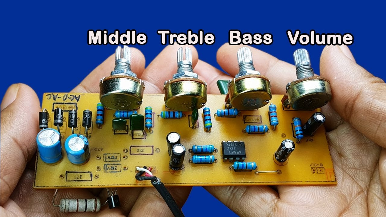 How To Make Bass Treble Middle Volume Controller Circuit Ic 4558d Diagram Of Jrc4558 At Home