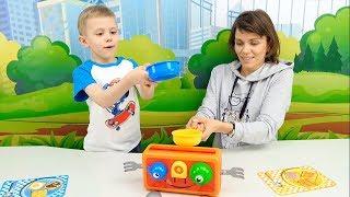 Смешные Игрушки для детей - ВЕСЁЛЫЙ ТОСТЕР и Голодные Бегемотики