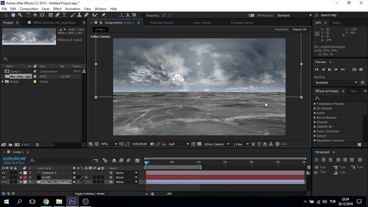 After Effects Tutorials | Element 3D V2 | 3D Ocean