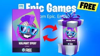 How ANYONE can get the FREE Fortnite WALMART Spray