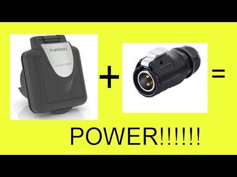 Diy Furrion Solar Rv Port Custom Plug Install Youtube