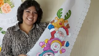 Pintura En Tela Navidad Painting On Fabric Tutorial