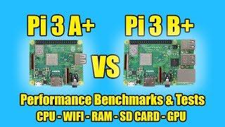 Raspberry Pi 3 A+ VS Raspberry Pi 3 B+  Benchmarks Tests