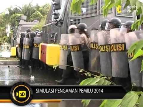 Polisi Gelar Simulasi Amankan Kantor KIP Aceh