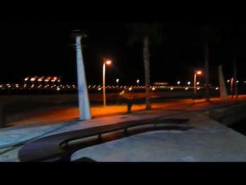 Alicante port by night