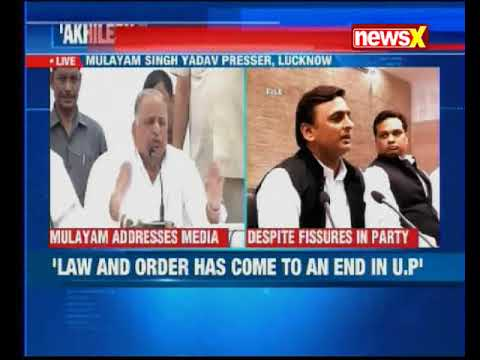 The Father - Son rift in the Samajwadi Party is out in the open
