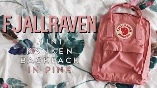 Pink Fjallraven Mini Kanken Backpack Unboxing