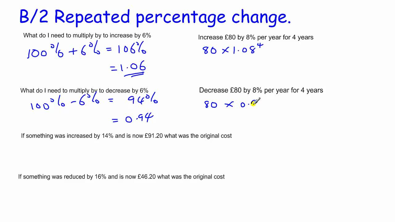 percent change Quickly learn to calculate the increase or decrease in percentage terms formula,  real-life examples and percentage change calculator.