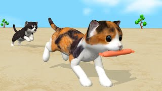 Cat and dog  cartoon for children