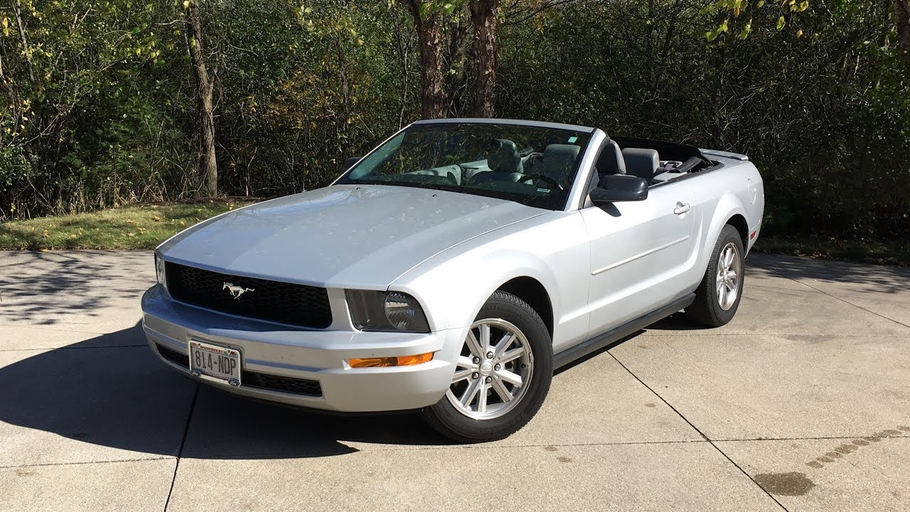 Introducing the familys 2007 ford mustang v6 convertible