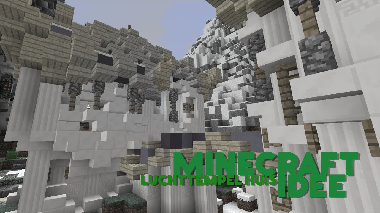 Minecraft idee luchttempel huis youtube - Huis idee ...