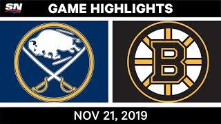 NHL Highlights   Sabres vs. Bruins – Nov. 21, 2019