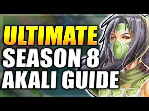 PRE-REWORK AKALI SEASON 8 GUIDE - ULTIMATE AKALI TOP/MID GUIDE + ALL MATCHUPS - League of Legends