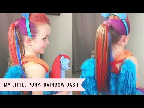 My Little Pony: Rainbow Dash Tutorial By SweetHearts Hair