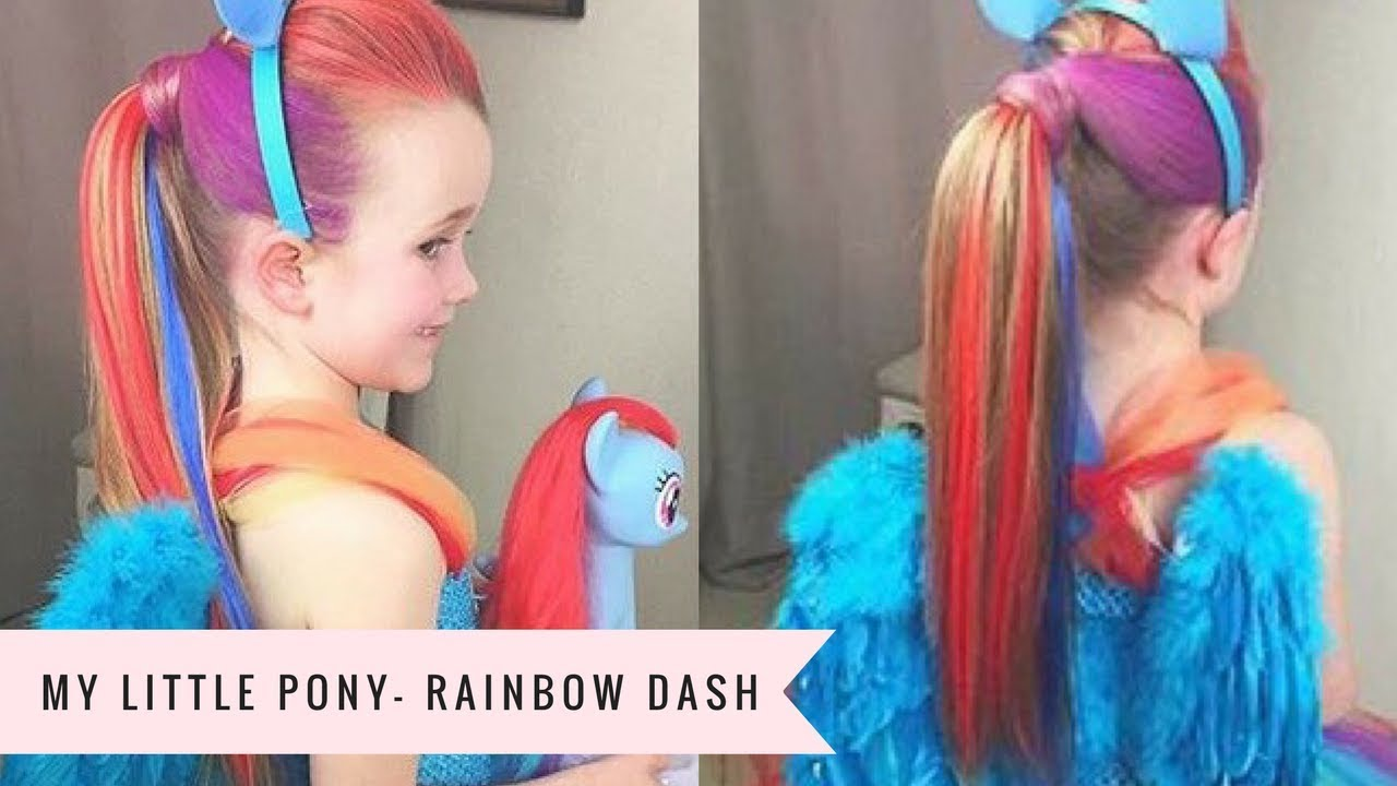 My Little Pony Rainbow Dash Tutorial By Sweethearts Hair