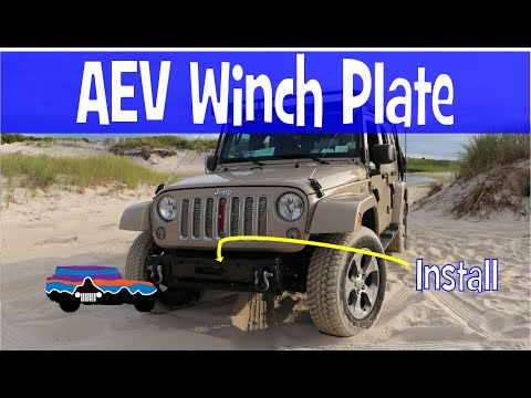 JEEP MOD - AEV Winch Plate Install