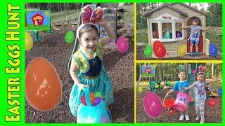 Best Egg Hunt for Huge Eggs Surprise Toys Compilation!