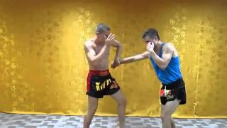 Защита от прямого для самообороны из тайского бокса Protecting for a self