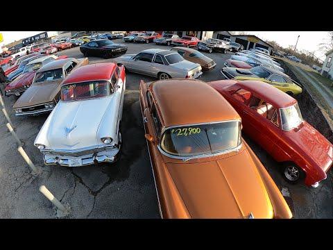 Classic Car Lot Inventory Full Walk Maple Motors 2/25/20