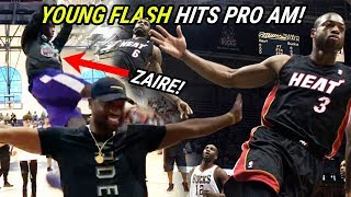 Zaire Wade Hits CLUTCH SHOT In Pro Am! Teams Up With ANDRE DRUMMOND & HASSAN WHITESIDE 😱
