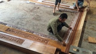 Amazing Woodworking Skills Extremely High - Build A Front Door Frame With Beautiful Patterns