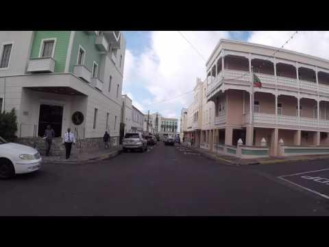 Saint Christophe et Niévès Basseterre Centre ville, Gopro / Saint Kitts Basseterre City center