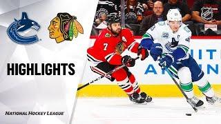 NHL Highlights | Canucks @ Blackhawks 11/07/19