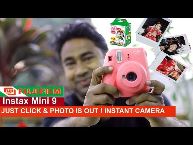 Fujifilm Instax mini 9 Camera - Unboxing & Review !! Instant Camera ! Just click and photo is out