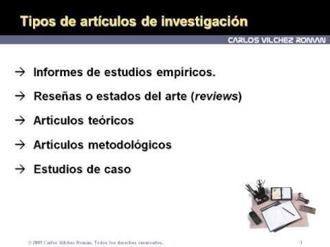 Redacción científica 1: Tipos de artículos y formato IMRD