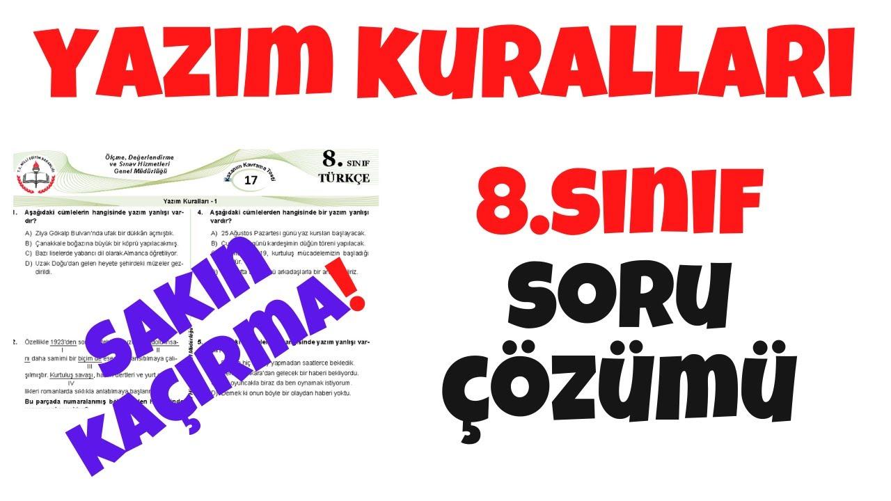 LGS 2021 Türkçe - Yazım Kuralları Konu Tekrarı Soru Çözümleri 2