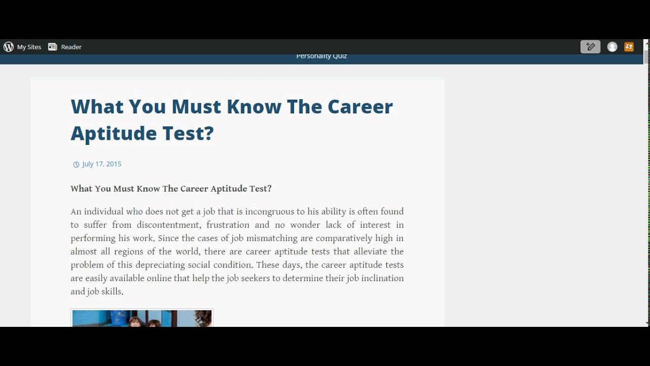 free career assessment test