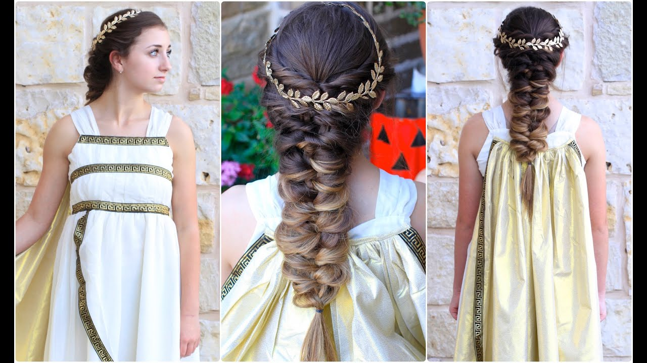 Superior Twist Faux Braid | Greek Goddess | Halloween Hairstyles   YouTube