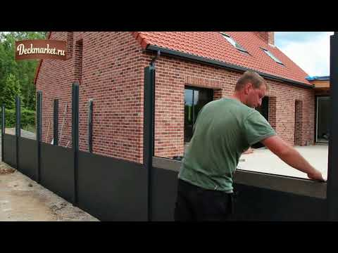 Забор из полимерно-древесного композита: самостоятельный монтаж