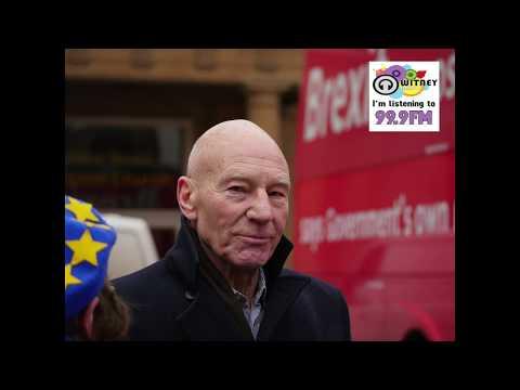 Sir Patrick Stewart & The Anti Brexit Bus visits Oxford City
