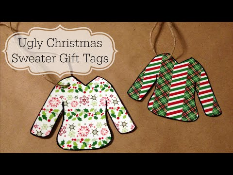 8a03d040408b32 Ugly Christmas Sweater Gift Tags - Virtual Ugly Sweater Party - YouTube