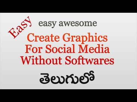 Create Superb Graphics for social media  without any software ! explained in telugu