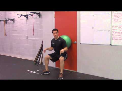 Wall Squats Using Swiss (Stability) Ball