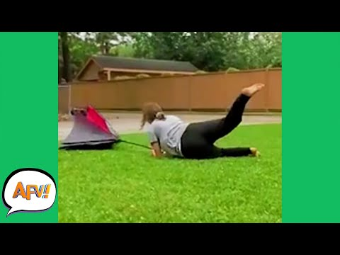 WIND WARNING! Watch Her Get Swept AWAY! 🤣 | Funny Fails | AFV 2021