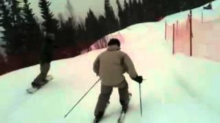 Fasadglas skicross andra åket