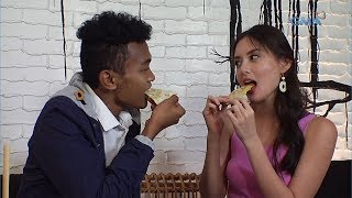 Taste MNL: Arra San Agustin's 'Staring Challenge' with Jong Madaliday! | GMA One