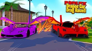 ROBLOX - DRAGON CARS DRAG RACE!!